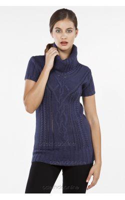 синий свитер Ikiler с коротким рукавом