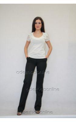темно-серые прямые брюки Vivento
