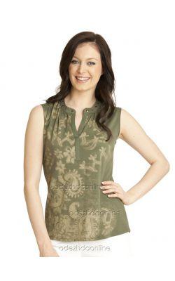 летняя блуза цвета хаки