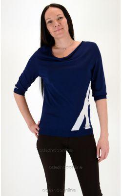 синяя трикотажная блуза Турция