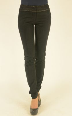 черные бархатные брюки Bovona