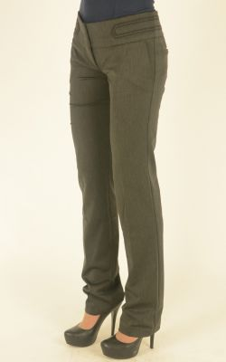 серые брюки Bovona с широким поясом