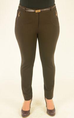 шоколадные брюки Vivento с отделкой молниями