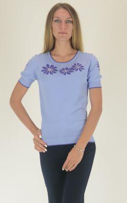 голубой джемпер Felicita с коротким рукавом