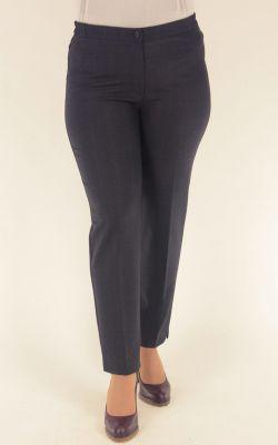 сине-серые брюки укороченные с высокой посадкой