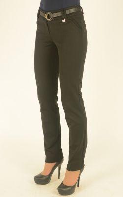черные молодежные узкие брюки