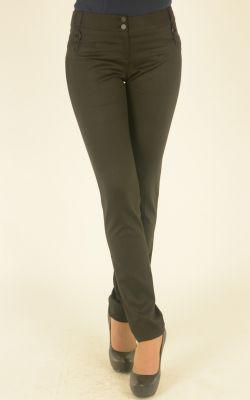 черные зауженные брюки Nadin