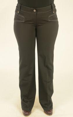 черные с отстрочкой брюки Lasagrada