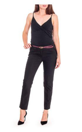 черные узкие укороченные брюки Vivento