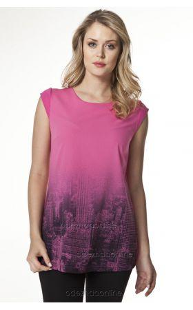 летняя туника розового цвета