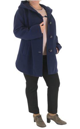 Пальто тёмно-синее