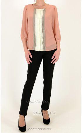 блуза + топ цвета пудры