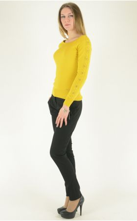 желтый трикотажный джемпер Felicita