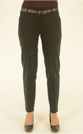 черные укороченные брюки Vivento