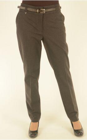 классические коричневые брюки в гусиную лапку