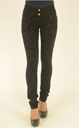 черные брюки с бархатным накатом