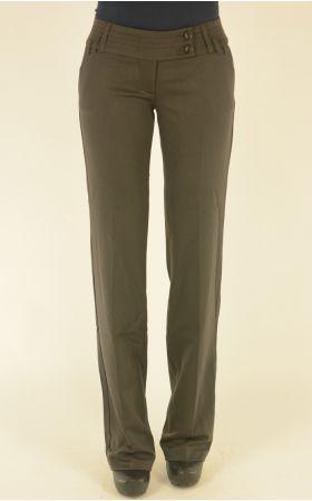 коричневые классические брюки Bovona