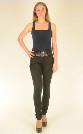 черные брюки Vivento с карманами на защипах