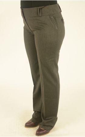 брюки большого размера цвет антрацит