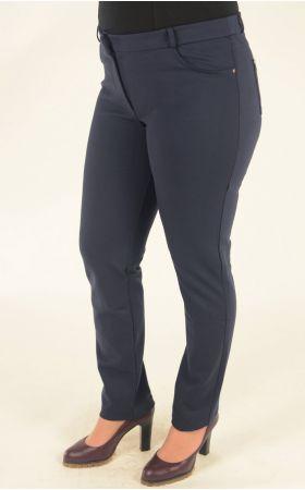 синие узкие брюки большого размера