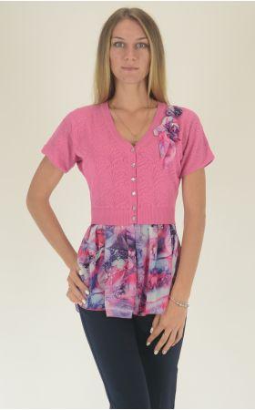 розовая летняя туника Felicita