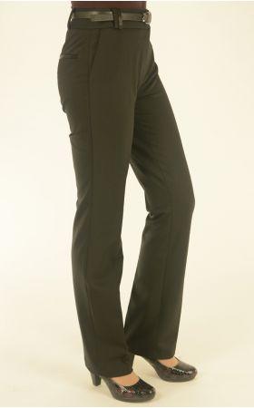 черные брюки с отделкой кожей