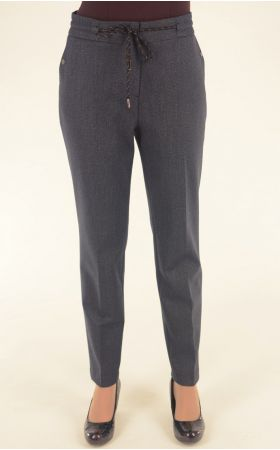 серо-синие брюки Nadin на шнурочке