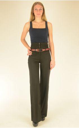 брюки черные Vangeliza прямые
