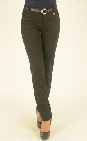 брюки черные с ремнем
