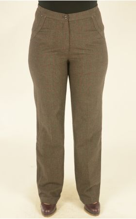 коричневые в клетку брюки Alkis