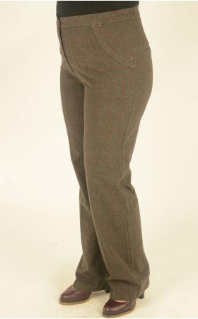 серо-бордовая клетка брюки