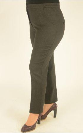 узкие укороченные серо-черная клетка брюки