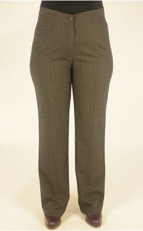 коричневые в клетку брюки
