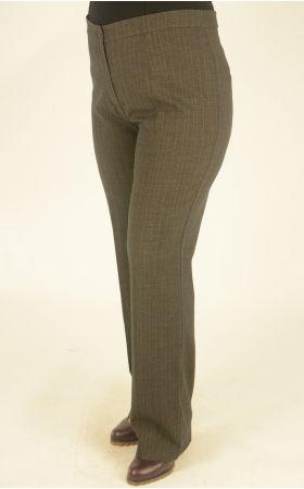 коричнево-синяя клетка брюки