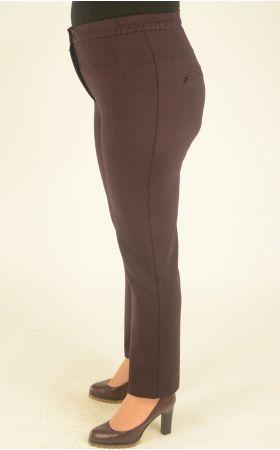 узкие укороченные бордово-черная клетка брюки
