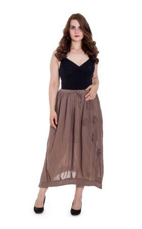 кофейная летняя юбка Bluebelle