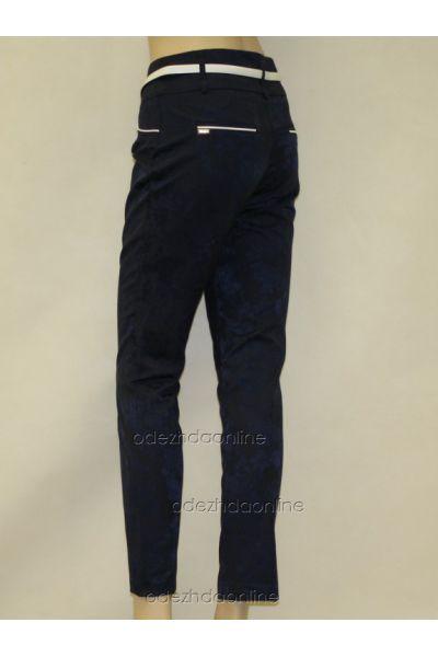Укороченные женские брюки 7/8 из жаккарда., фото 4