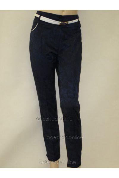 Укороченные женские брюки 7/8 из жаккарда., фото 1