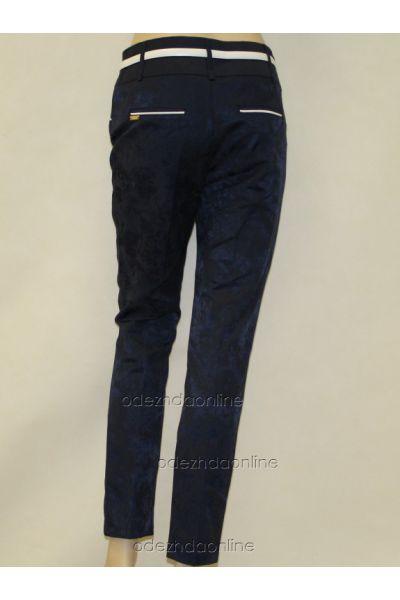 Укороченные женские брюки 7/8 из жаккарда., фото 2
