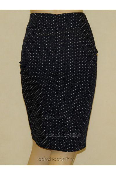 Замечательная женская юбка до колена в горошек, фото 2