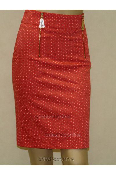 Замечательная женская юбка до колена в горошек, фото 1