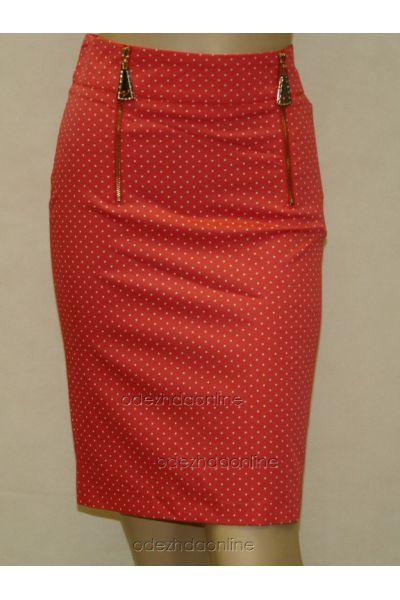 Замечательная женская юбка до колена в горошек, фото 3