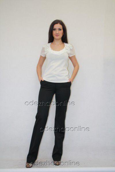 прямые классические брюки цвет кофе с молоком