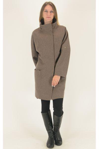 Пальто Come Prima бежевое