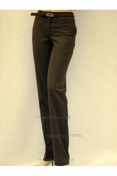 Классические женские брюки со средней посадкой полной длины., фото 1