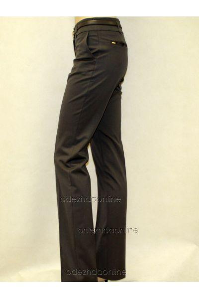 Классические женские брюки со средней посадкой полной длины., фото 2