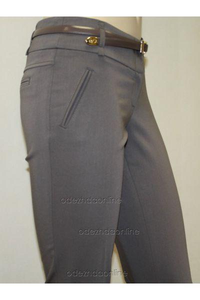 Стильные узкие женские брюки полной длины со средней посадкой., фото 3