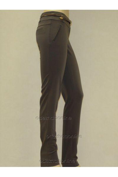 Стильные узкие женские брюки полной длины со средней посадкой., фото 2