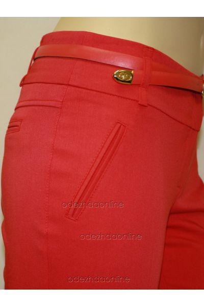 Узкие  брюки полной длины со средней посадкой, фото 3