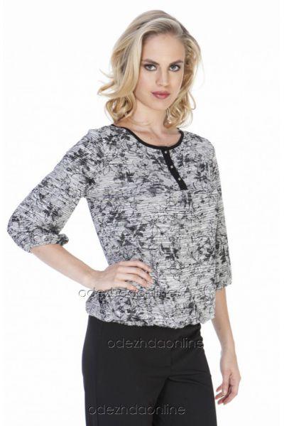 серая цветная блуза Ikiler